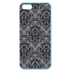 Damask1 Black Marble & Gray Colored Pencil (r) Apple Seamless Iphone 5 Case (color)