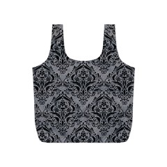 Damask1 Black Marble & Gray Colored Pencil (r) Full Print Recycle Bags (s)