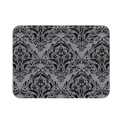 Damask1 Black Marble & Gray Colored Pencil (r) Double Sided Flano Blanket (mini)