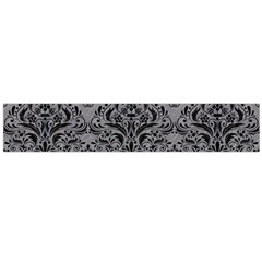 Damask1 Black Marble & Gray Colored Pencil (r) Flano Scarf (large)