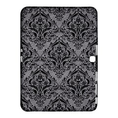 Damask1 Black Marble & Gray Colored Pencil (r) Samsung Galaxy Tab 4 (10 1 ) Hardshell Case
