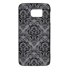 Damask1 Black Marble & Gray Colored Pencil (r) Galaxy S6