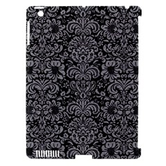 Damask2 Black Marble & Gray Colored Pencil Apple Ipad 3/4 Hardshell Case (compatible With Smart Cover)