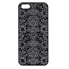 Damask2 Black Marble & Gray Colored Pencil Apple Iphone 5 Seamless Case (black)