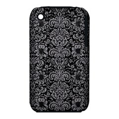 Damask2 Black Marble & Gray Colored Pencil Iphone 3s/3gs