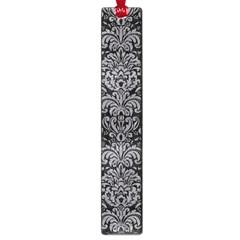 Damask2 Black Marble & Gray Colored Pencil Large Book Marks