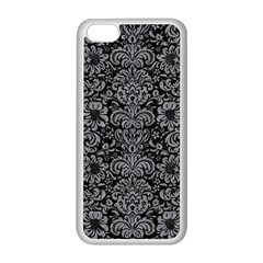 Damask2 Black Marble & Gray Colored Pencil Apple Iphone 5c Seamless Case (white)