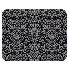 Damask2 Black Marble & Gray Colored Pencil Double Sided Flano Blanket (medium)