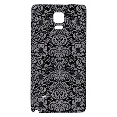 Damask2 Black Marble & Gray Colored Pencil Galaxy Note 4 Back Case
