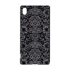 Damask2 Black Marble & Gray Colored Pencil Sony Xperia Z3+
