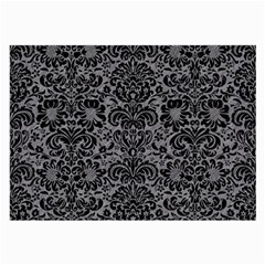 Damask2 Black Marble & Gray Colored Pencil (r) Large Glasses Cloth (2 Side)