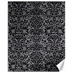 Damask2 Black Marble & Gray Colored Pencil (r) Canvas 11  X 14