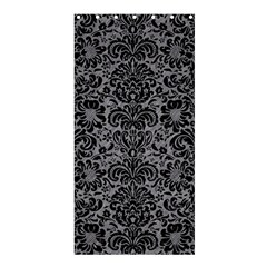 Damask2 Black Marble & Gray Colored Pencil (r) Shower Curtain 36  X 72  (stall)