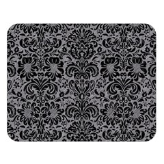 Damask2 Black Marble & Gray Colored Pencil (r) Double Sided Flano Blanket (large)