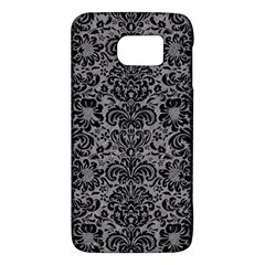 Damask2 Black Marble & Gray Colored Pencil (r) Galaxy S6
