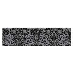 Damask2 Black Marble & Gray Colored Pencil (r) Satin Scarf (oblong)