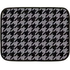Houndstooth1 Black Marble & Gray Colored Pencil Double Sided Fleece Blanket (mini)