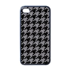 Houndstooth1 Black Marble & Gray Colored Pencil Apple Iphone 4 Case (black)