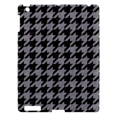 Houndstooth1 Black Marble & Gray Colored Pencil Apple Ipad 3/4 Hardshell Case