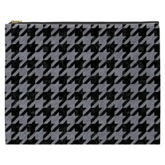 Houndstooth1 Black Marble & Gray Colored Pencil Cosmetic Bag (xxxl)