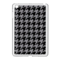 Houndstooth1 Black Marble & Gray Colored Pencil Apple Ipad Mini Case (white)