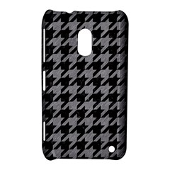 Houndstooth1 Black Marble & Gray Colored Pencil Nokia Lumia 620