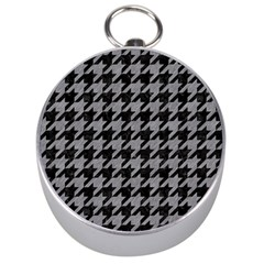 Houndstooth1 Black Marble & Gray Colored Pencil Silver Compasses