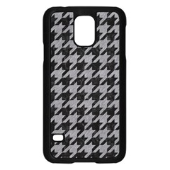 Houndstooth1 Black Marble & Gray Colored Pencil Samsung Galaxy S5 Case (black)