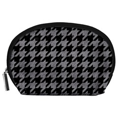Houndstooth1 Black Marble & Gray Colored Pencil Accessory Pouches (large)