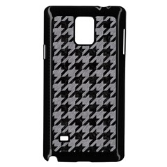 Houndstooth1 Black Marble & Gray Colored Pencil Samsung Galaxy Note 4 Case (black)