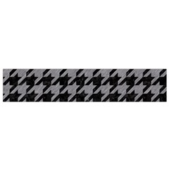 Houndstooth1 Black Marble & Gray Colored Pencil Flano Scarf (small)