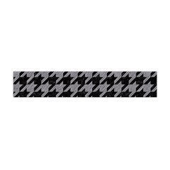 Houndstooth1 Black Marble & Gray Colored Pencil Flano Scarf (mini)