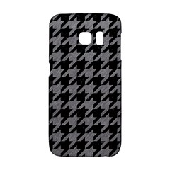 Houndstooth1 Black Marble & Gray Colored Pencil Galaxy S6 Edge