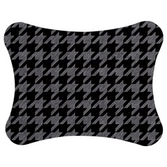 Houndstooth1 Black Marble & Gray Colored Pencil Jigsaw Puzzle Photo Stand (bow)