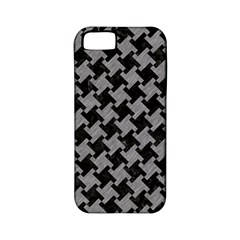 Houndstooth2 Black Marble & Gray Colored Pencil Apple Iphone 5 Classic Hardshell Case (pc+silicone)