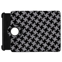 Houndstooth2 Black Marble & Gray Colored Pencil Kindle Fire Hd 7