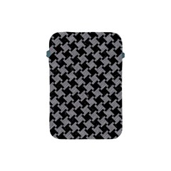Houndstooth2 Black Marble & Gray Colored Pencil Apple Ipad Mini Protective Soft Cases