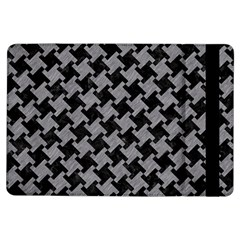 Houndstooth2 Black Marble & Gray Colored Pencil Ipad Air Flip