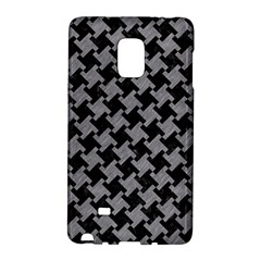 Houndstooth2 Black Marble & Gray Colored Pencil Galaxy Note Edge