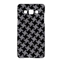 Houndstooth2 Black Marble & Gray Colored Pencil Samsung Galaxy A5 Hardshell Case