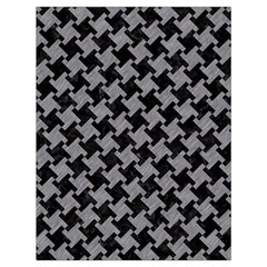Houndstooth2 Black Marble & Gray Colored Pencil Drawstring Bag (large)