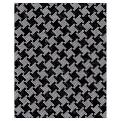 Houndstooth2 Black Marble & Gray Colored Pencil Drawstring Bag (small)