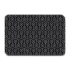 Hexagon1 Black Marble & Gray Colored Pencil Plate Mats