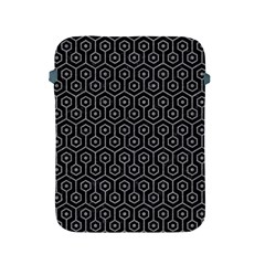 Hexagon1 Black Marble & Gray Colored Pencil Apple Ipad 2/3/4 Protective Soft Cases