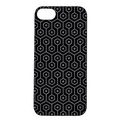Hexagon1 Black Marble & Gray Colored Pencil Apple Iphone 5s/ Se Hardshell Case