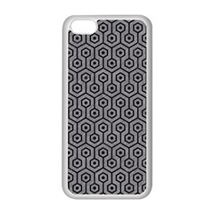 Hexagon1 Black Marble & Gray Colored Pencil (r) Apple Iphone 5c Seamless Case (white)