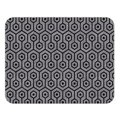 Hexagon1 Black Marble & Gray Colored Pencil (r) Double Sided Flano Blanket (large)
