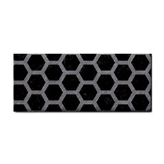Hexagon2 Black Marble & Gray Colored Pencil Cosmetic Storage Cases