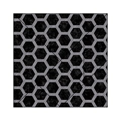 Hexagon2 Black Marble & Gray Colored Pencil Acrylic Tangram Puzzle (6  X 6 )