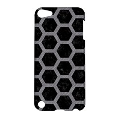 Hexagon2 Black Marble & Gray Colored Pencil Apple Ipod Touch 5 Hardshell Case